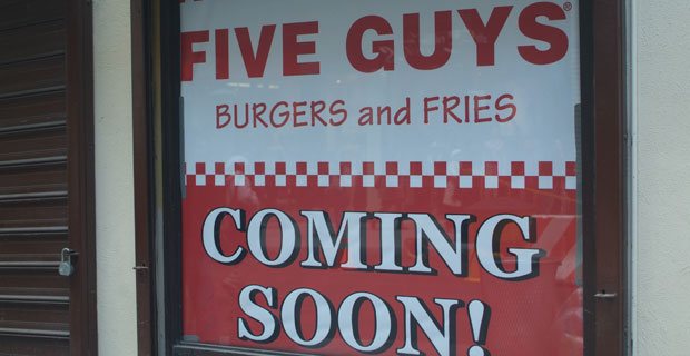 Five Guys is coming to our area
