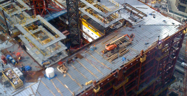 Subway Sandwich Trailer in World Trade Center site.