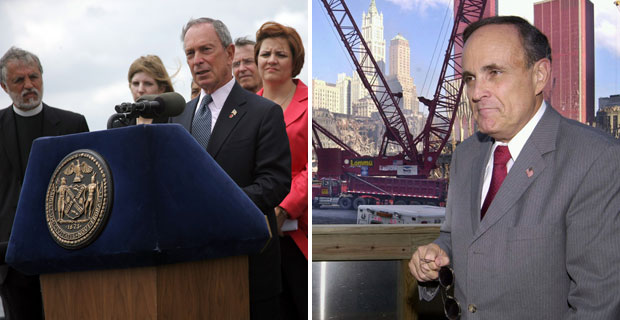 Mayor Michael Bloomberg and Rudolph Giuliani make statements on Ground Zero Mosque