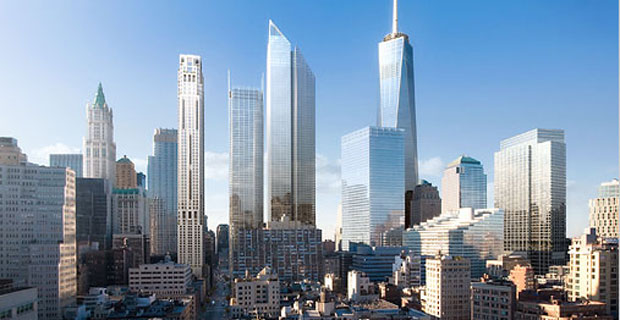 A visual depiction of the world trade center site