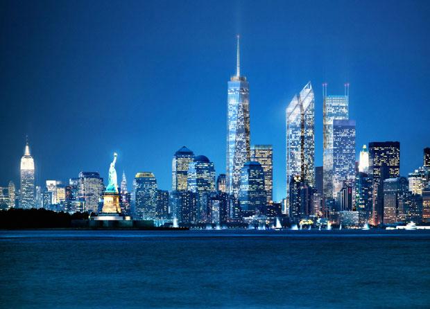 New Downtown Skyline by Night (Courtesy: Silverstein Properties)