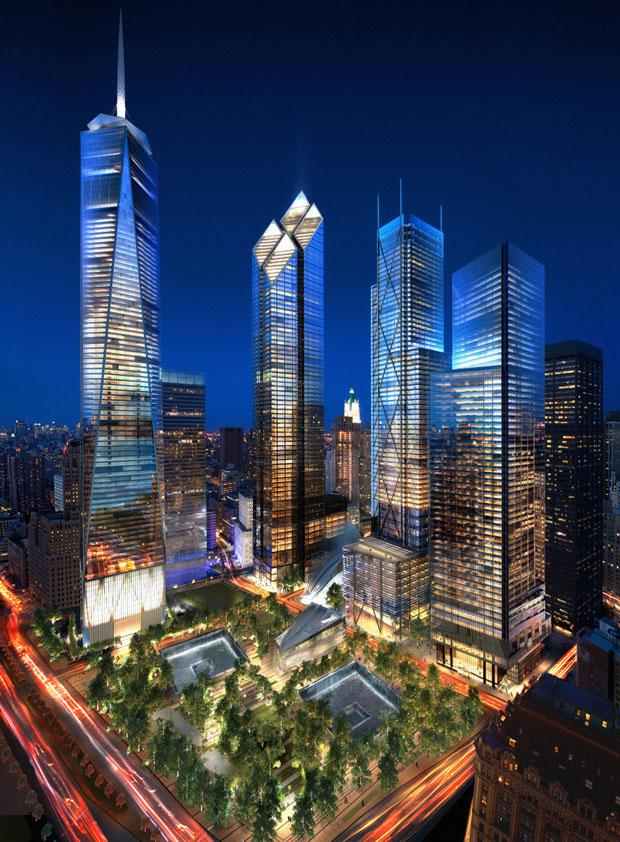 World Trade Center Site at Night (Courtesy: Silverstein Properties)