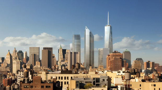 New World Trade Center View Looking South (Courtesy: Silverstein Properties)