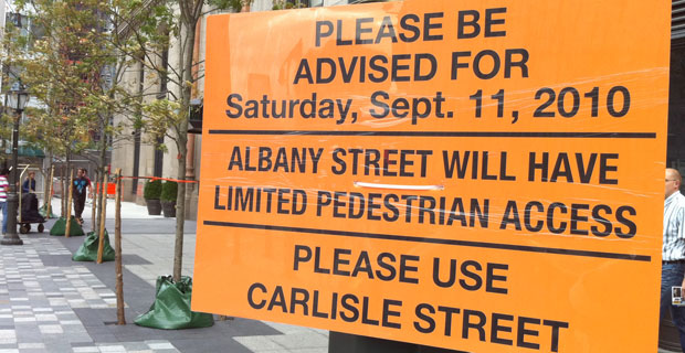 September 11, 2010 Street Closings