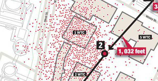 New York Post WTC Remains Map