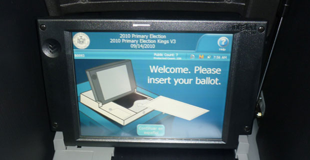 Electronic ballots roll out all over the city.