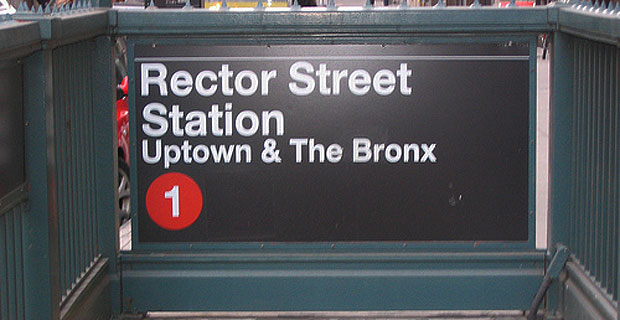 Rector Street 1 train station