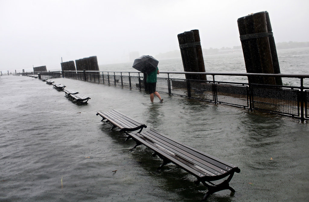 Flooded Battery Park (Credit: Michael Appleton for The New York Times)